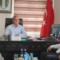 CHP Mv. A. Dr. Niyazi Nefi Kara'dan MESO Başkanı Hasan Çelik'e ziyaret