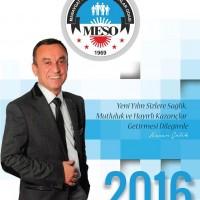 MESO Başkanı Çelik'ten Yeni Yıl Mesajı